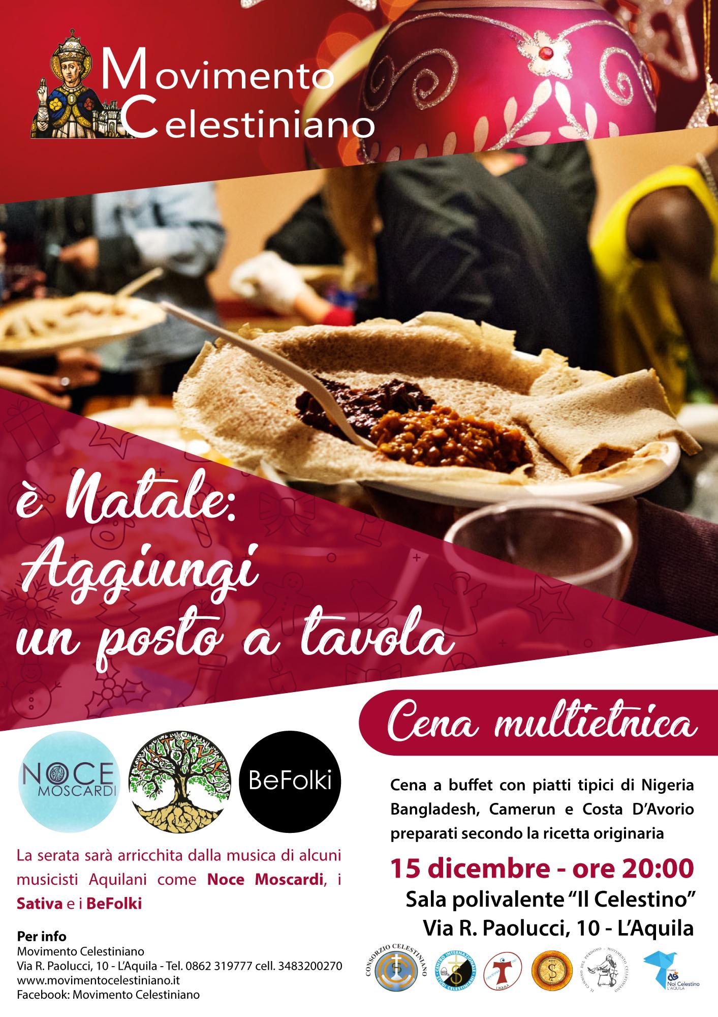 E natale aggiungi un posto a tavola cena multietnica movimento celestiniano l aquila - Aggiungi un posto a tavola 12 ottobre ...